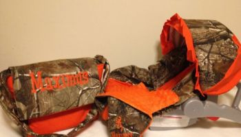 3 Piece Set REALTREE CAMO Fabric Infant Car Seat Cover And Canopy Diaper Bag