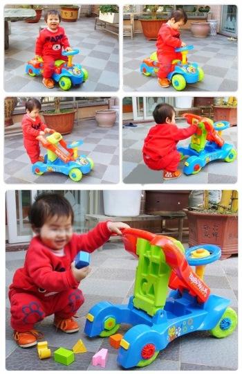 2-IN-1 BABY PUSH-TYPE WALKER + BABY RIDE ON CAR